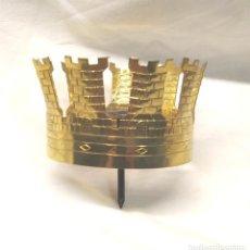 Antigüedades: CORONA PARA VIRGEN O SANTO CORONADO DE BRONCE. MED. 7 CM DIAMETRO. Lote 194455475