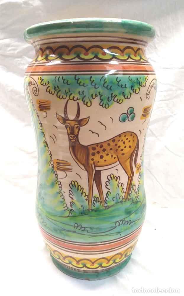ALBARERO GRANDE TALAVERA CERÁMICA POPULAR. MED. 20 X 38 CM (Antigüedades - Porcelanas y Cerámicas - Talavera)
