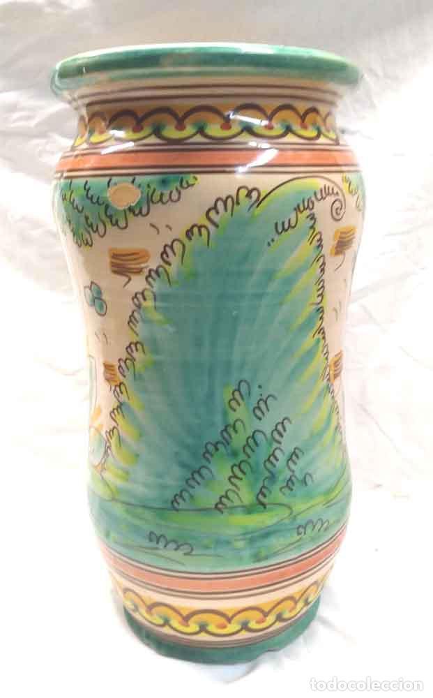 Antigüedades: Albarero Grande Talavera cerámica popular. Med. 20 x 38 cm - Foto 2 - 194488156