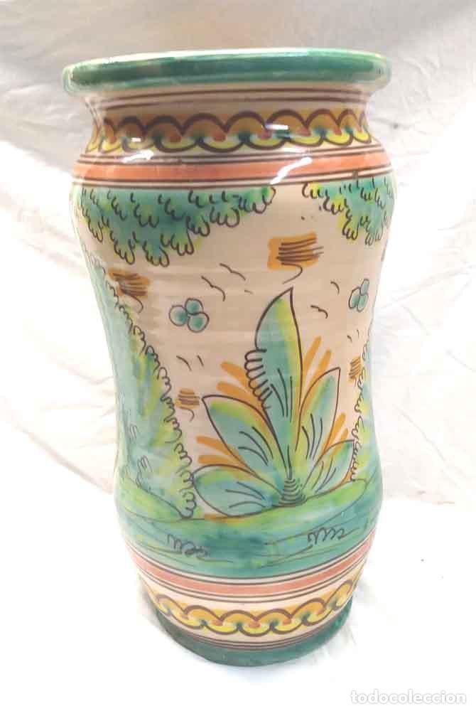 Antigüedades: Albarero Grande Talavera cerámica popular. Med. 20 x 38 cm - Foto 3 - 194488156