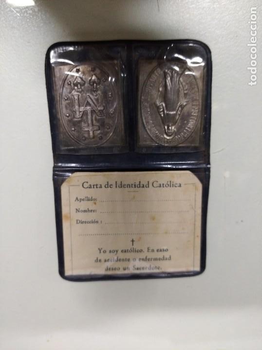 CARTA DE IDENTIDAD CATÓLICA. (Antigüedades - Religiosas - Varios)