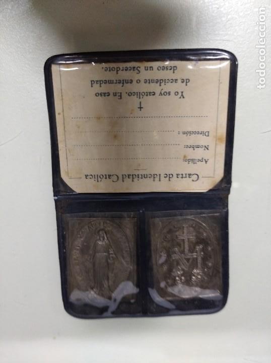 Antigüedades: Carta de identidad católica. - Foto 2 - 194490668