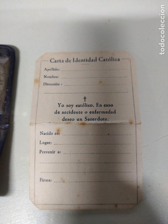Antigüedades: Carta de identidad católica. - Foto 3 - 194490668