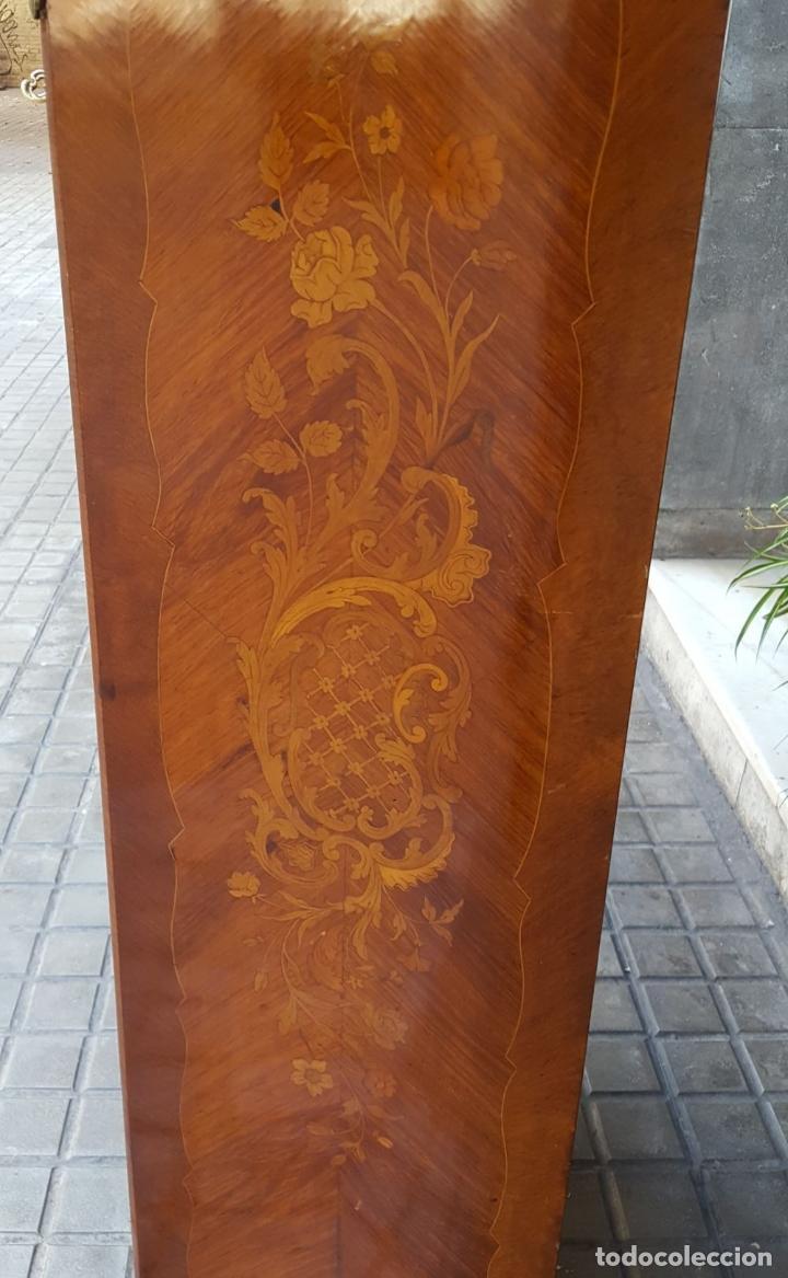 Antigüedades: ESCRITORIO ABATTANT. MARQUETERÍA DE LIMONCILLO. ESTILO LUIS XV. ESPAÑA. SIGLO XIX-XX. - Foto 15 - 170178304