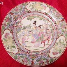 Antigüedades: PLATO DE COLGAR EN LA PARED CREO QUE CHINO PERO DE CALIDAD. Lote 194491095