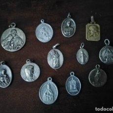 Antigüedades: LOTE DE 12 MEDALLAS DISTINTAS. . Lote 194493200