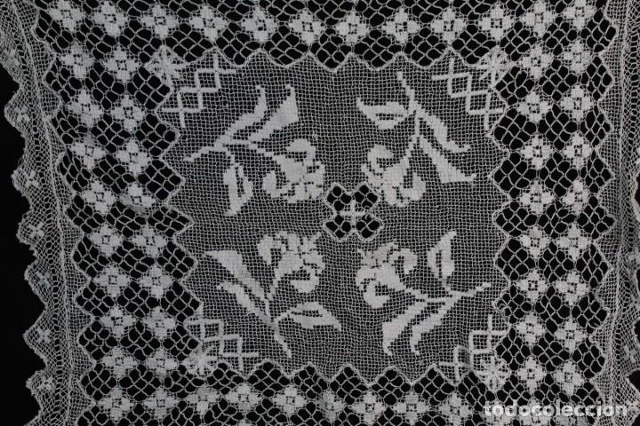 Antigüedades: 516A - Cuadrante de deshilado, fillet y realce manual. Fines s XIX - Foto 3 - 194493273