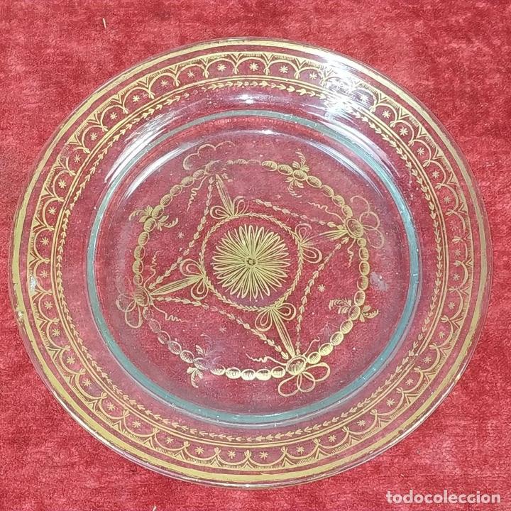 Antigüedades: POTICHE. CRISTAL DE LA GRANJA. SOPLADO. DECORACIÓN EN ORO. ESPAÑA. FIN SIGLO XVIII - Foto 5 - 169876368