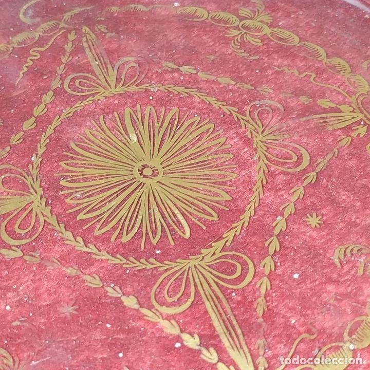 Antigüedades: POTICHE. CRISTAL DE LA GRANJA. SOPLADO. DECORACIÓN EN ORO. ESPAÑA. FIN SIGLO XVIII - Foto 6 - 169876368