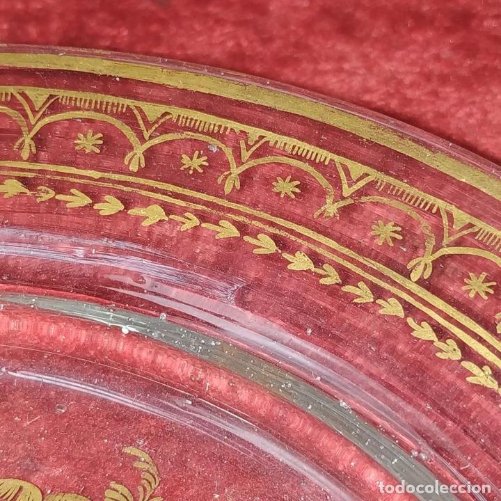 Antigüedades: POTICHE. CRISTAL DE LA GRANJA. SOPLADO. DECORACIÓN EN ORO. ESPAÑA. FIN SIGLO XVIII - Foto 9 - 169876368