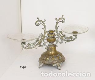 CENTRO APERITIVERO CON CANDELERO, AÑOS 60. (Antigüedades - Hogar y Decoración - Centros de Mesas Antiguos)