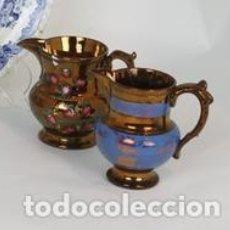 Antigüedades: DOS JARRAS CERÁMICA BRISTOL, INGLATERRA, FFS. XIX.. Lote 194502173
