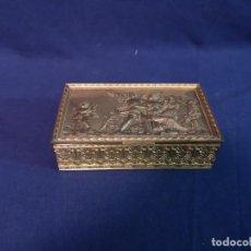 Antigüedades: CAJA FRANCESA EN BRONCE DORADO. Lote 194503971