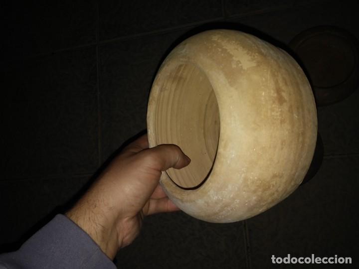 Antigüedades: 5 Cuencos ceramica para beber animales bebedero hecho mano pájaro conejo gallina corral cortijo aves - Foto 6 - 194504705