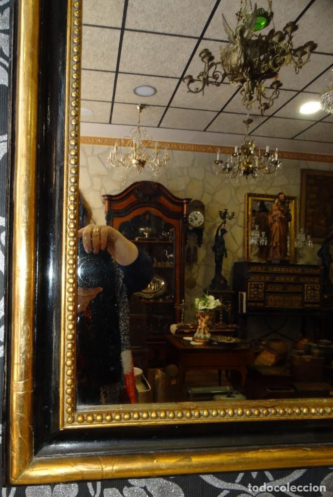 Antigüedades: ESPEJO DE MADERA ANTIGUO MEDIADOS S XIX.PAN DE ORO Y ESTUCO - Foto 11 - 194512216