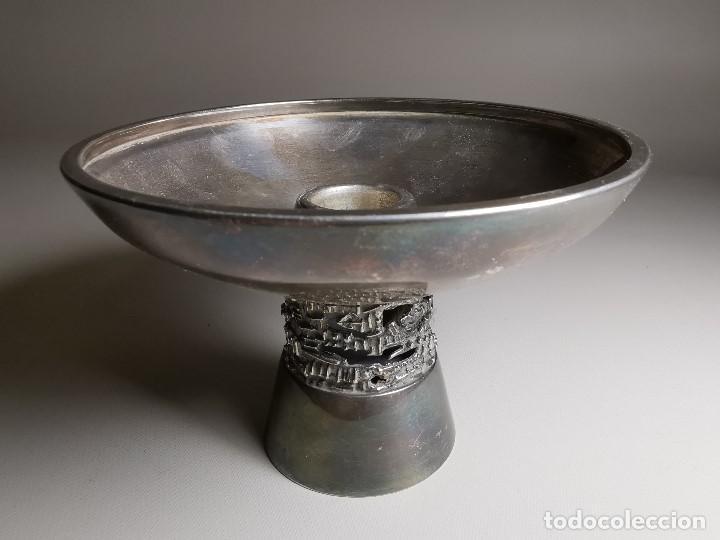 Antigüedades: bonito candelabro candelero palmatoria diseño- Alerium Plaque PC--- España - Años 50-60 - Foto 4 - 194512455