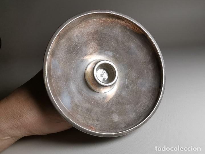 Antigüedades: bonito candelabro candelero palmatoria diseño- Alerium Plaque PC--- España - Años 50-60 - Foto 13 - 194512455