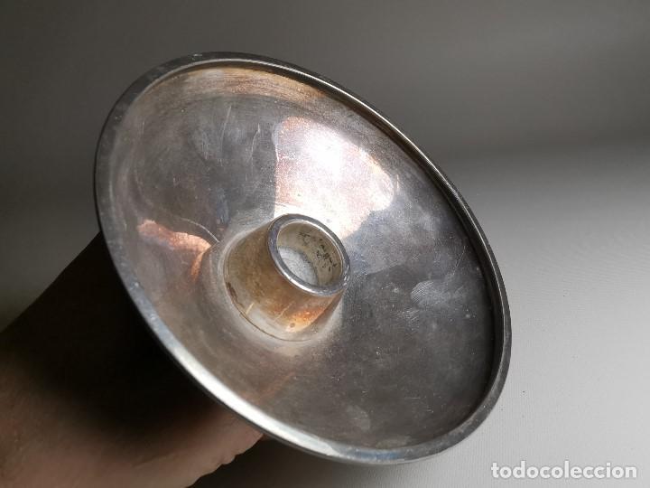 Antigüedades: bonito candelabro candelero palmatoria diseño- Alerium Plaque PC--- España - Años 50-60 - Foto 14 - 194512455