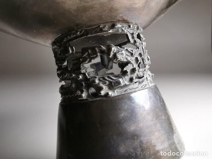 Antigüedades: bonito candelabro candelero palmatoria diseño- Alerium Plaque PC--- España - Años 50-60 - Foto 18 - 194512455