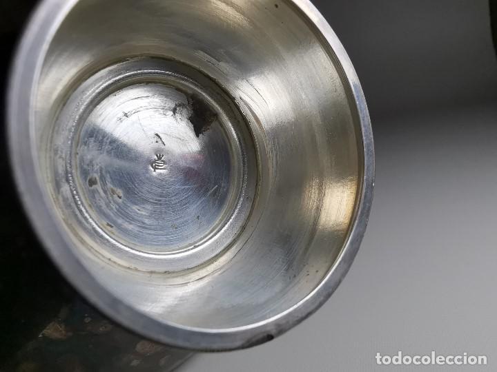 Antigüedades: bonito candelabro candelero palmatoria diseño- Alerium Plaque PC--- España - Años 50-60 - Foto 22 - 194512455