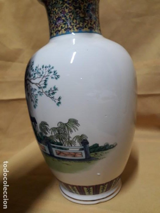 Antigüedades: Jarrón con motivos japoneses - Foto 2 - 194515072