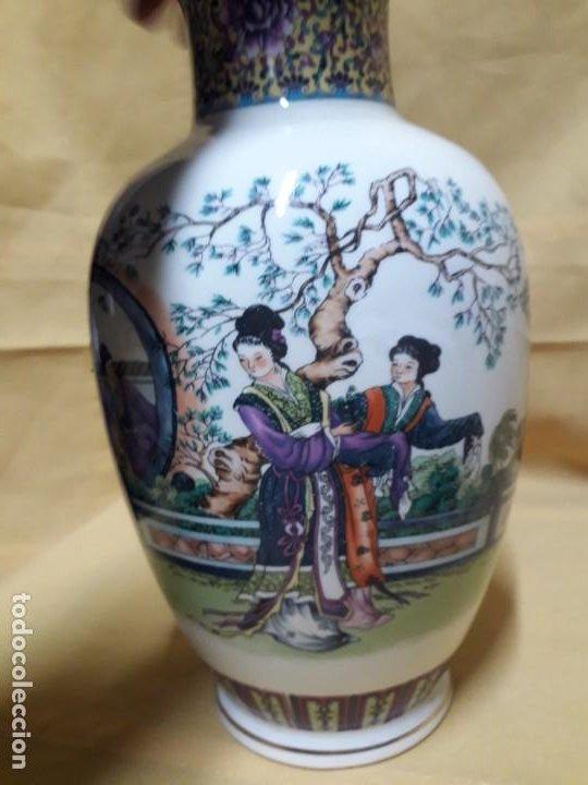 Antigüedades: Jarrón con motivos japoneses - Foto 3 - 194515072