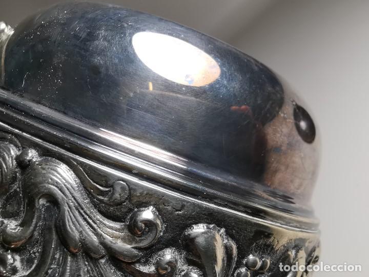 Antigüedades: GRAN AZUCARERO DISEÑO PLATERO JOSE MIR , MADRID SIGLO XIX--BAÑO DE PLATA- ref-d - Foto 34 - 194515185