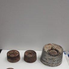 Antigüedades: ANTIGÜO LOTE 7 PESAS DE HIERRO. Lote 194515292