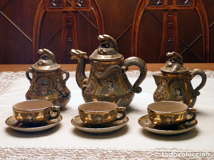 JUEGO DE TÉ JAPONÉS (Antigüedades - Porcelanas y Cerámicas - China)