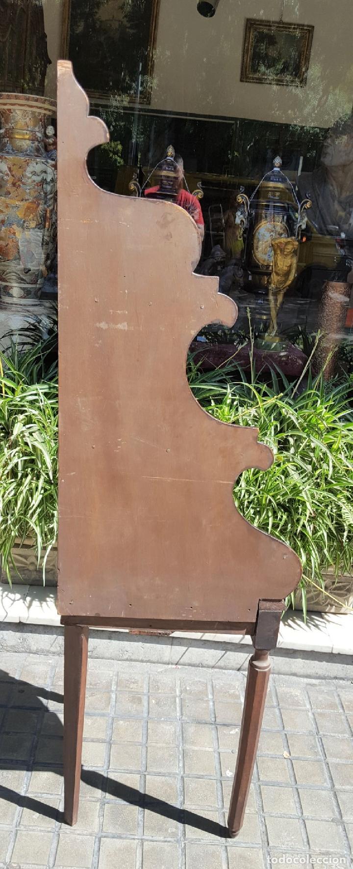Antigüedades: PAREJA DE RINCONERAS. MADERA DE NOGAL. ESTILO IMPERIO. ESPAÑA. SIGLO XIX. - Foto 12 - 167130948