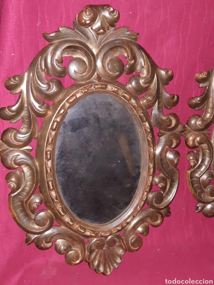 Antigüedades: ESPEJO DE MADERA - Foto 2 - 194518236