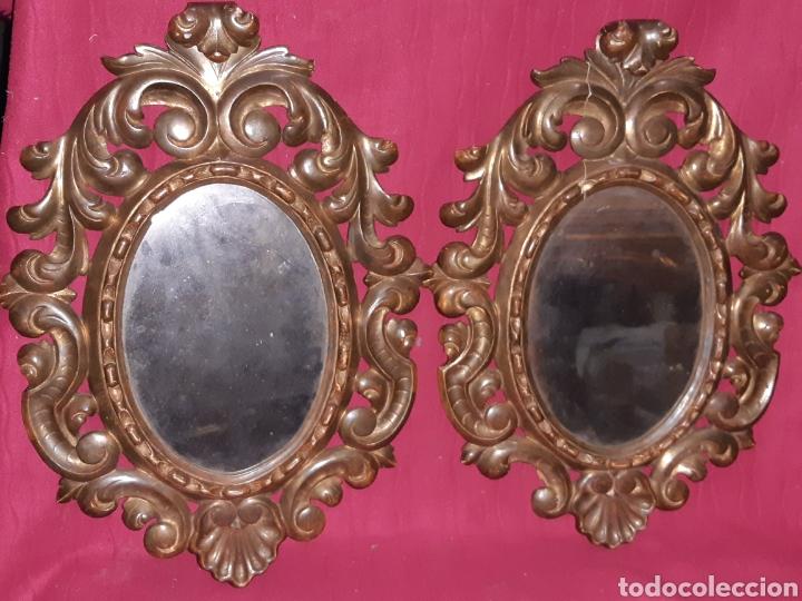 ESPEJO DE MADERA (Antigüedades - Muebles Antiguos - Espejos Antiguos)