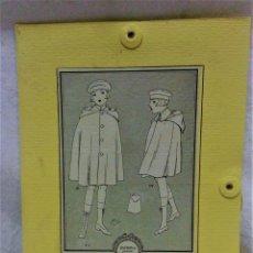 Antigüedades: PATRONES GRADUABLES MARTÍ CAPA CON CAPUCHA.INSTRUCCIONES Y PLANCHA PATRONES. Lote 194520513