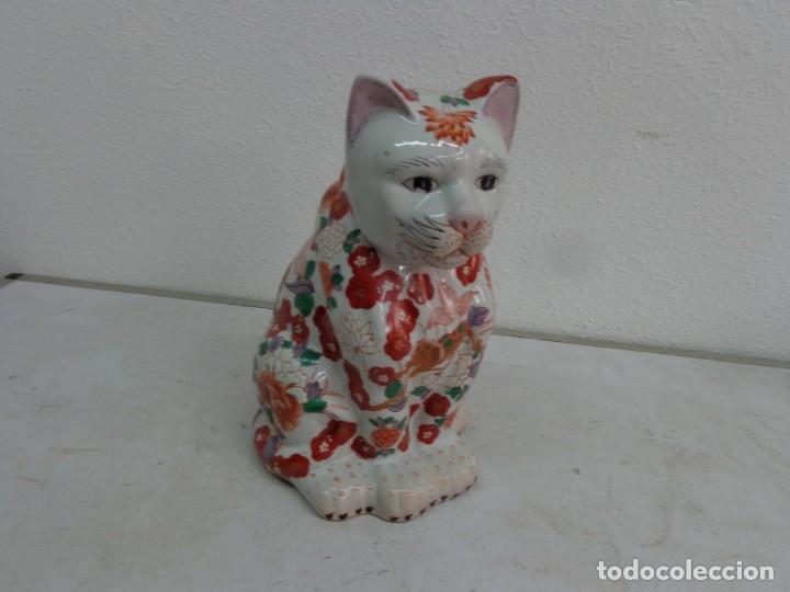 ANTIGUA Y RARA FIGURA DE MUY BUENA PORCELANA CHINA O JAPONESA IMARI??? COMPLETA Y BUEN ESTADO (Antigüedades - Porcelana y Cerámica - Japón)