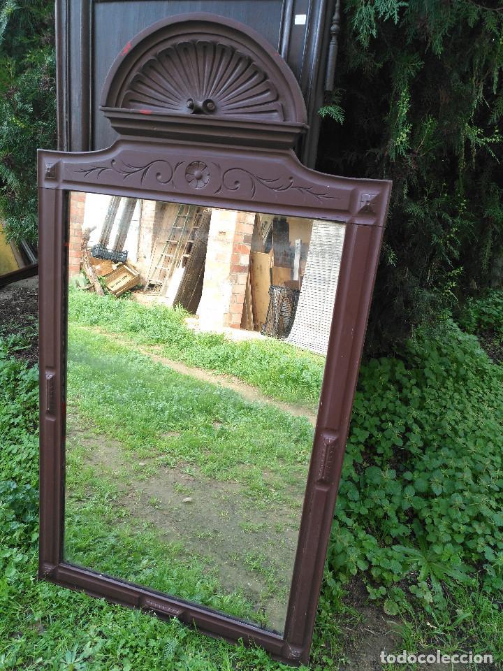Antigüedades: Espejo alfonsin grande. - Foto 2 - 194525393