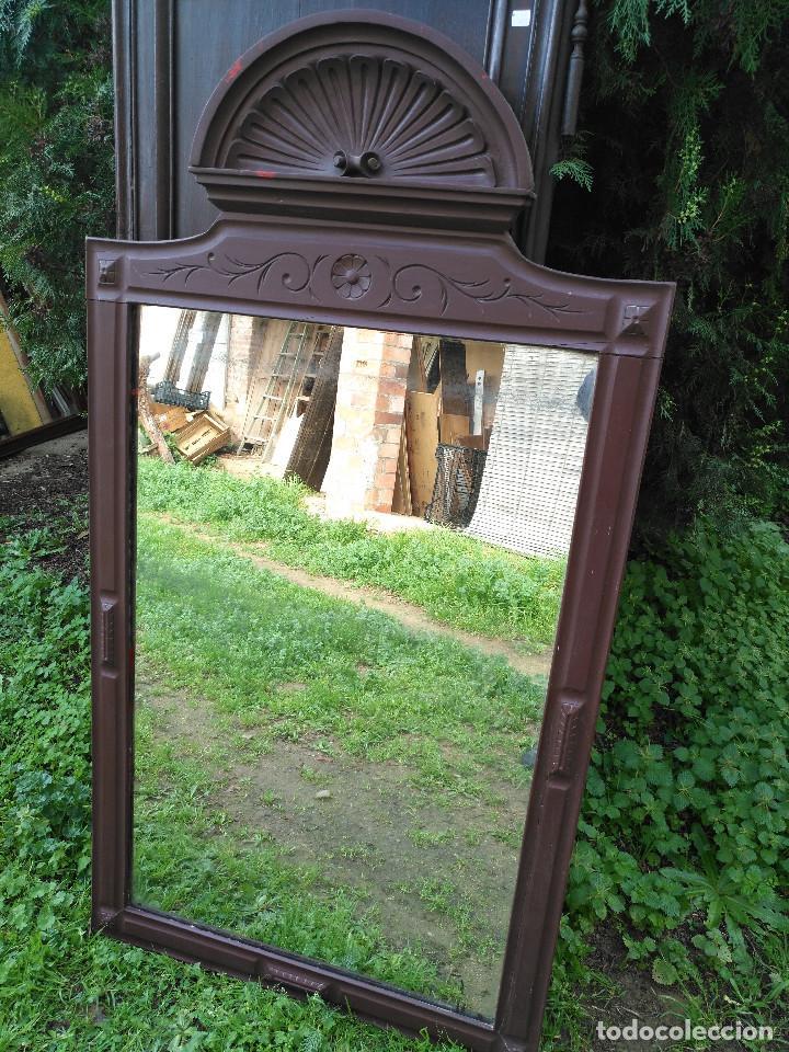 Antigüedades: Espejo alfonsin grande. - Foto 3 - 194525393