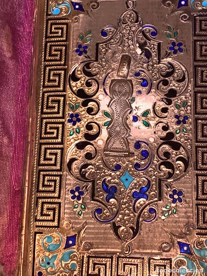 Antigüedades: Soberbio carnet de baile-tarjetero en plata y esmalte. Finales de siglo XIX - Foto 6 - 194526698