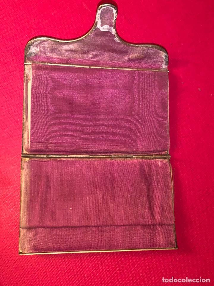 Antigüedades: Soberbio carnet de baile-tarjetero en plata y esmalte. Finales de siglo XIX - Foto 7 - 194526698
