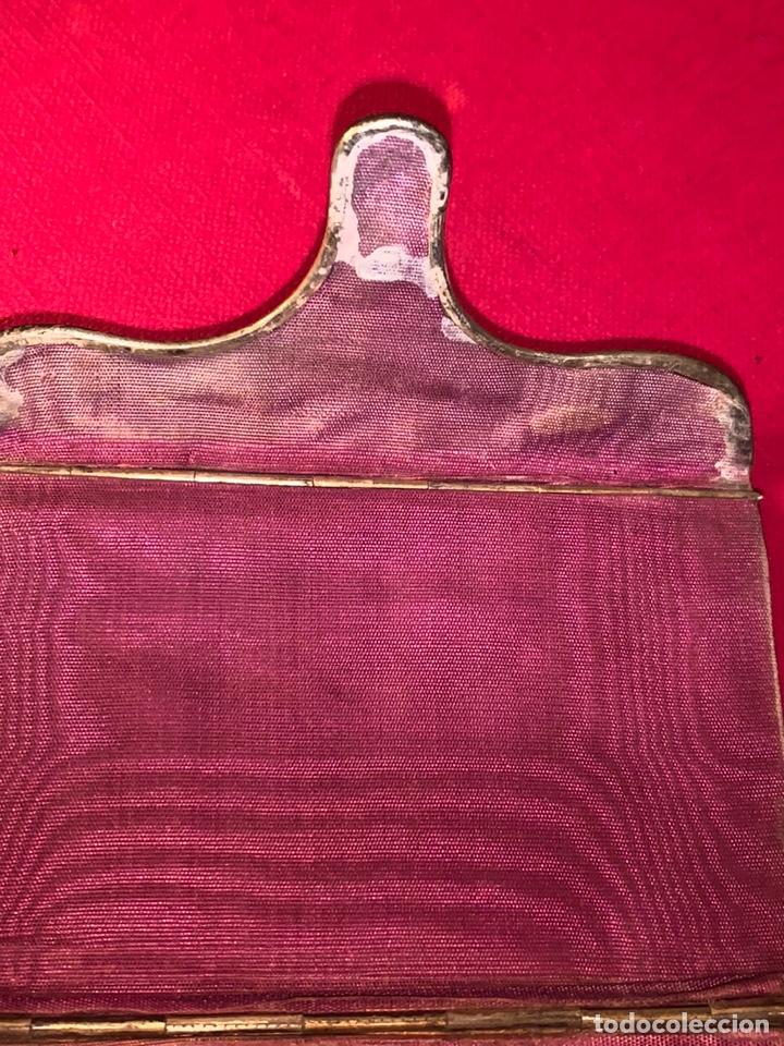 Antigüedades: Soberbio carnet de baile-tarjetero en plata y esmalte. Finales de siglo XIX - Foto 9 - 194526698