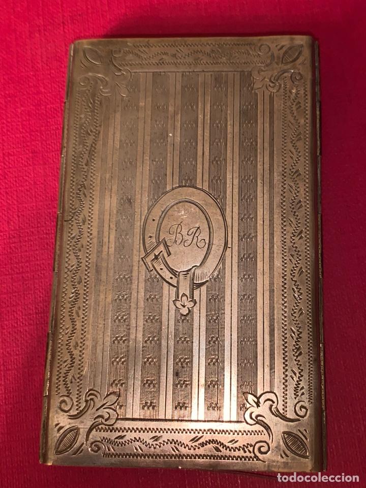 Antigüedades: Soberbio carnet de baile-tarjetero en plata y esmalte. Finales de siglo XIX - Foto 10 - 194526698