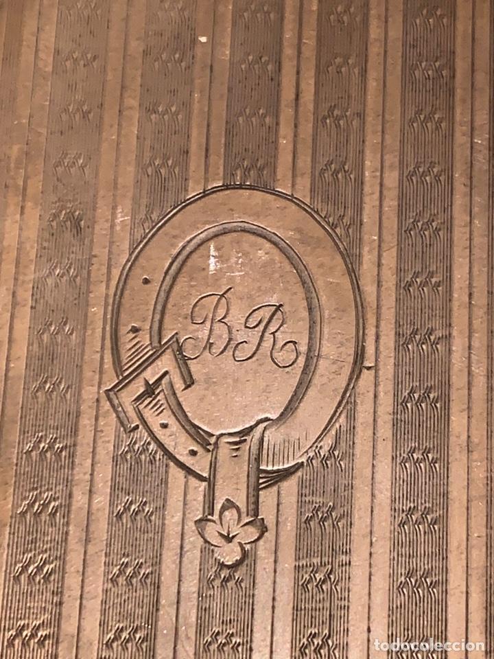 Antigüedades: Soberbio carnet de baile-tarjetero en plata y esmalte. Finales de siglo XIX - Foto 11 - 194526698