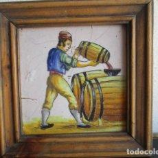 Antigüedades: AZULEJO ANTIGUO DE OFICIO. Lote 194528207