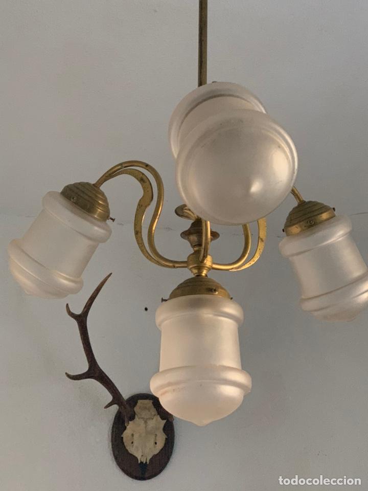 LAMPARA MODERNISTA (Antigüedades - Iluminación - Lámparas Antiguas)