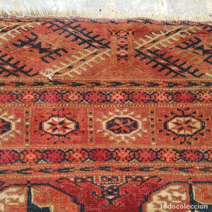 Antigüedades: ALFOMBRA TEKKE. LANA ANUDADA A MANO. TEKKE. TURKMENISTAN. SIGLO XIX-XX - Foto 19 - 164711126