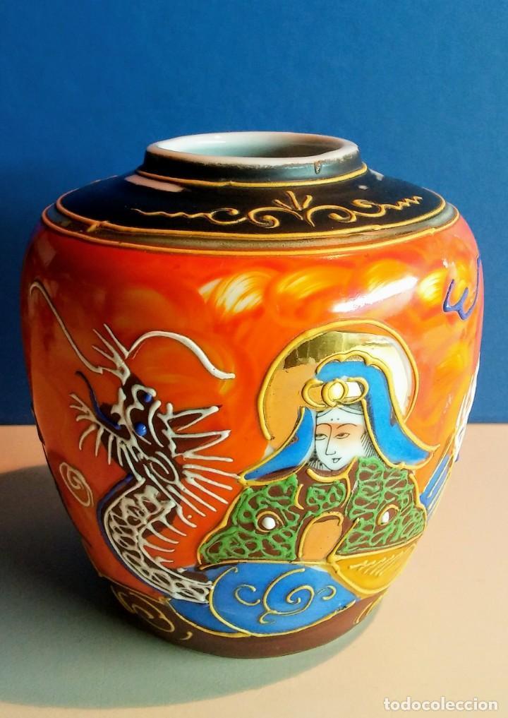 JARRON ESTILO SATSUMA MADE IN JAPAN (Antigüedades - Porcelana y Cerámica - Japón)