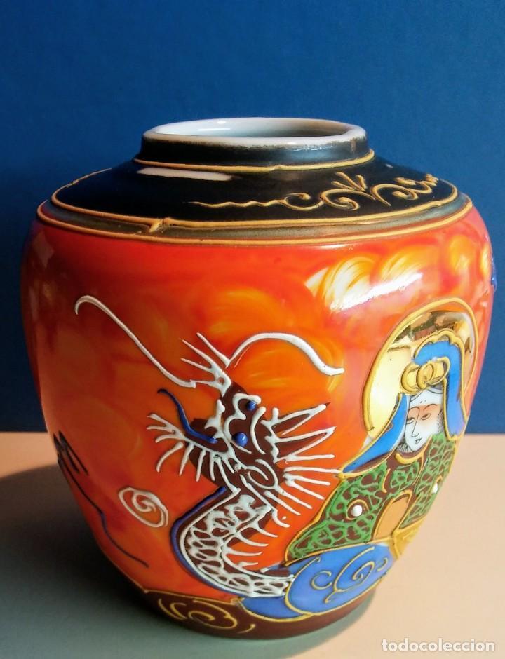 Antigüedades: JARRON ESTILO SATSUMA MADE IN JAPAN - Foto 3 - 194531615