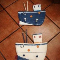 Antigüedades: PERCHAS DE MADERA NAUTICAS. Lote 194535991