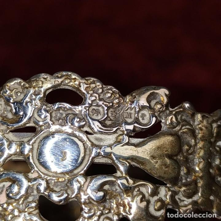 Antigüedades: LUPA. PLATA CINCELADA. PUNZONES INGLESES. SEBASTIAN CRESPELL II(?). INGLATERRA. C. 1820 - Foto 14 - 155915050