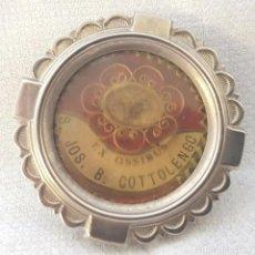 Antigüedades: ANTIGUO RELICARIO EX OSSIBUS S. JOS. B. COTTOLENGO SAN JOSE BENITO LACRE DE IGLESIA RELIQUIA HUESO. Lote 194540330