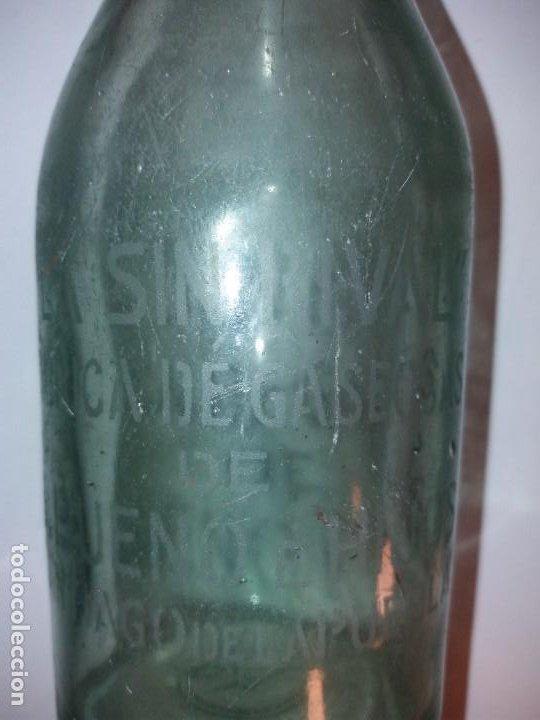 Antigüedades: CURIOSA BOTELLA DE GASEOSA LA SIN RIVAL FABRICA en PUEBLO DE SALAMANCA AÑOS 60´s - Foto 4 - 194541156
